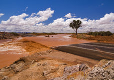 Floodway in South Australia Royalty Free Stock Photo