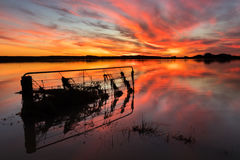 Floodway sunset Stock Photography