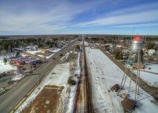 Floodwood, Минесота во время зимы в северной Минесоте стоковая фотография