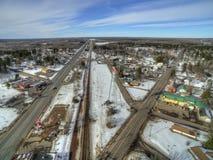 Floodwood, Минесота во время зимы в северной Минесоте стоковая фотография rf
