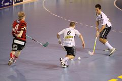 Floolball - Stresovice contro Ostrava Immagini Stock