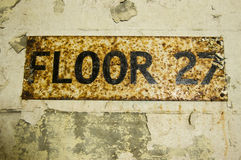 Floor 27 Sign Stock Photography