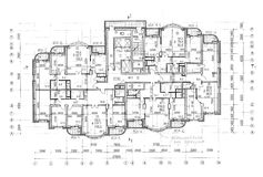 Floor architectural construction plan. With notes of architect royalty free stock photos