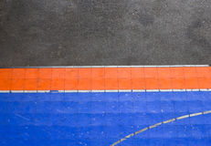 Floor basketball court. Detail concrete floor, outdoor play, sport ground Stock Photography