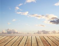 Floor and blue sky Stock Photos