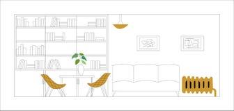Blueprint. Architectural vector illustration. Interior vector design vector illustration