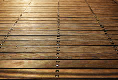 Floor boards of Zoutkamp's wood pier Royalty Free Stock Photography