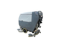 Floor buffing machine Royalty Free Stock Photos