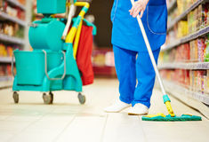 Floor care and cleaning services Royalty Free Stock Image