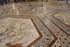 Floor of the Cathedral in Siena Royalty Free Stock Photo