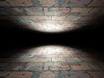 Floor and ceiling made of bricks background texture Stock Images
