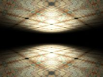 Floor and ceiling made of bricks background texture Royalty Free Stock Photos