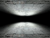 Floor and ceiling made of concrete background texture Royalty Free Stock Photos