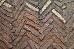 Floor of chevron pattern