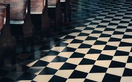 In church. Floor in a church in Bergamo, Italy Royalty Free Stock Photos