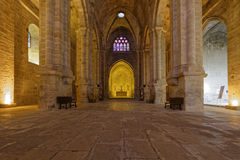 Floor of the church in Fontfroide abbey Stock Images
