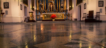 Floor of a church Royalty Free Stock Photography