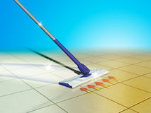 Floor cleaning Royalty Free Stock Photos