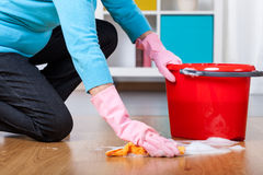 Floor cleaning Stock Photo