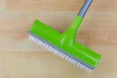 Floor cleaning hard Brush with dryer squeegee for swipe cleaning. Floor cleaning hard Brush with dryer squeegee, sharp rubber edge for swipe cleaning royalty free stock photos