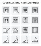 Floor Cleaning Icon Royalty Free Stock Image