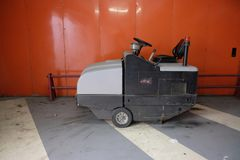 Floor cleaning machine. With on-board operator Royalty Free Stock Photos