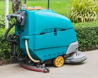 Floor Cleaning machine. Close up of Floor Cleaning machine Royalty Free Stock Images