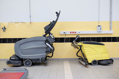 Floor cleaning machine. Image of a floor cleaning machine Royalty Free Stock Photography