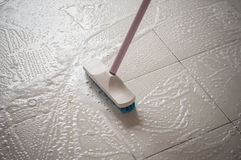 Floor cleaning Royalty Free Stock Image