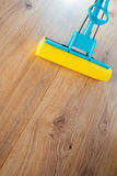 Floor cleaning with a mop Royalty Free Stock Photos
