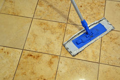Floor cleaning rag Stock Images