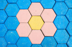 Floor colorful brick decoration tile texture background Royalty Free Stock Images