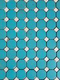 Floor from concrete blocks arranged in a pattern. Top view Stock Photo