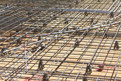 Floor Construction with Rebar Stock Image