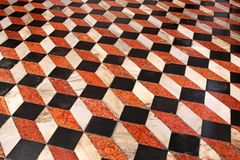 Floor cube tiles Stock Images
