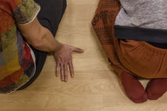 , on floor. On floor, dance performance improvisation stock images