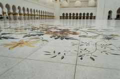 Floor decoration in Sheikh Zayed Mosque Royalty Free Stock Image