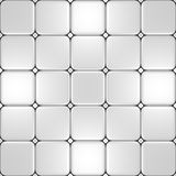 Floor with different white tiles. White floor which can be used as mosaic for computer background or 3d illustrations Royalty Free Stock Photography