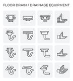 Floor drain icon. Floor drain and drainage equipment vector icon set Royalty Free Stock Image