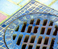 Floor Drain Urban Photo Stock Image