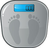 Floor electronic scales. Vector floor electronic scales. EPS 8 Royalty Free Stock Images