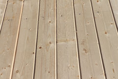 Floor from fresh pine boards Stock Images