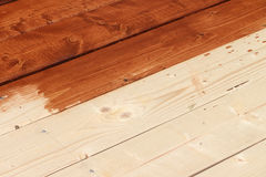 Floor from fresh pine boards Royalty Free Stock Photo