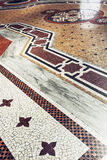 The floor in Galleria Vittorio Emanuele II in Milan, Italy Stock Photos