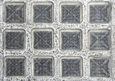 Floor glass blocks. Clear glass blocks in floor pavement Stock Images