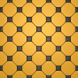Floor with gray and yellow tiles Stock Photography