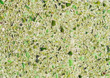 Floor with green pebble mosaic pattern Stock Photography