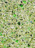 Floor with green pebble mosaic pattern Stock Photo