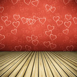 Floor hearts Royalty Free Stock Photos