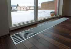 Floor heating Stock Image